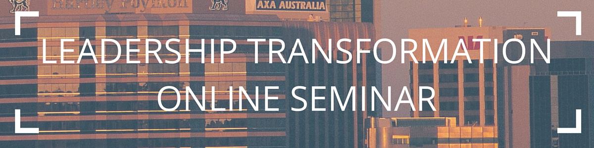 Transformation 3.0 Online Seminar